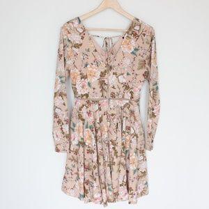 ASOS boohoo tie neck floral dress US 8